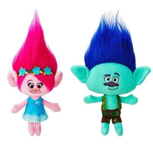 23cm Trolls Plush Toys Poppy Branch Stuffed Cartoon Dolls Trolls Kids Birthday Christmas Gifts
