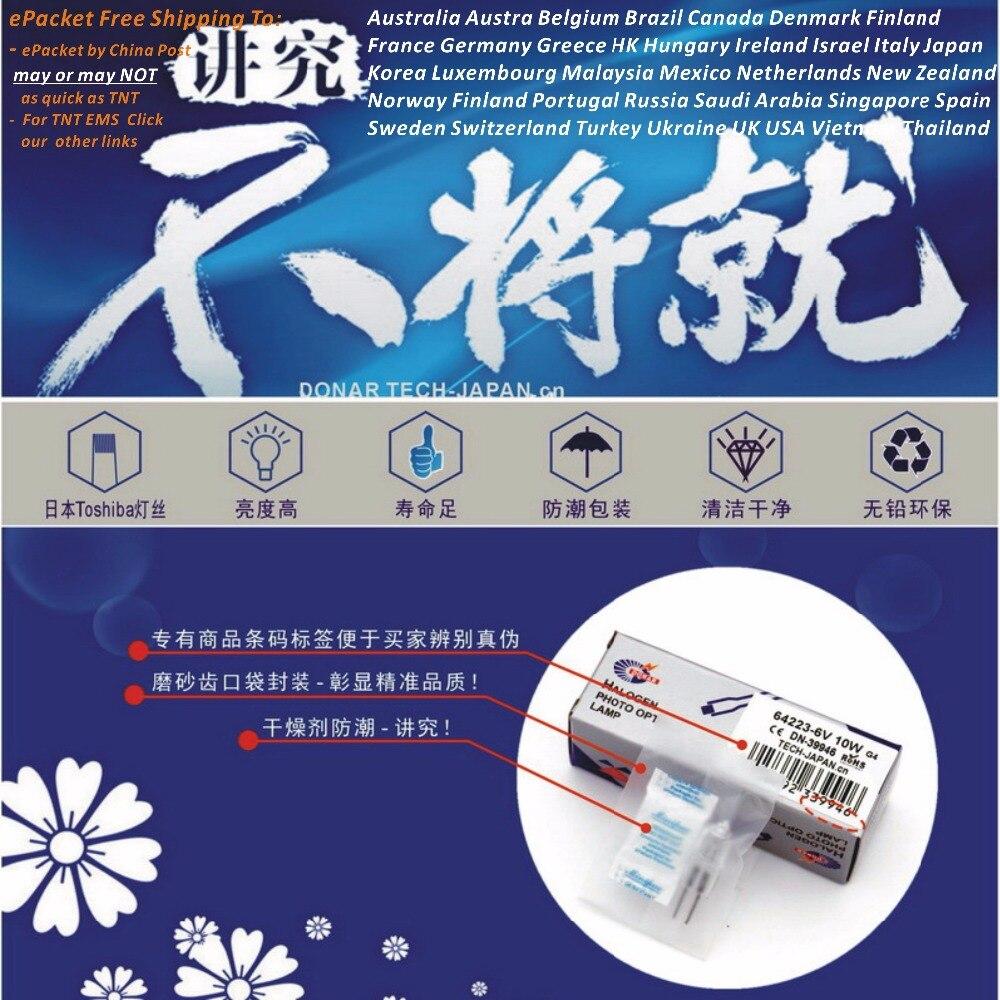 DN-27653 FDV 24V 150W 64642 hlx 24V150W hlx64642 G6.35 bombilla halógena microscopio dental lámpara quirúrgica ePacket envío