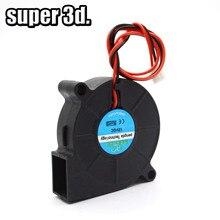 Ventilador Turbo de refrigeración sin escobillas para impresora 3D, 5015/4010/4020, 12V y 24V, piezas de impresora de 2 pines para extrusora, Enfriador de CC, pieza de ventilador de plástico negro