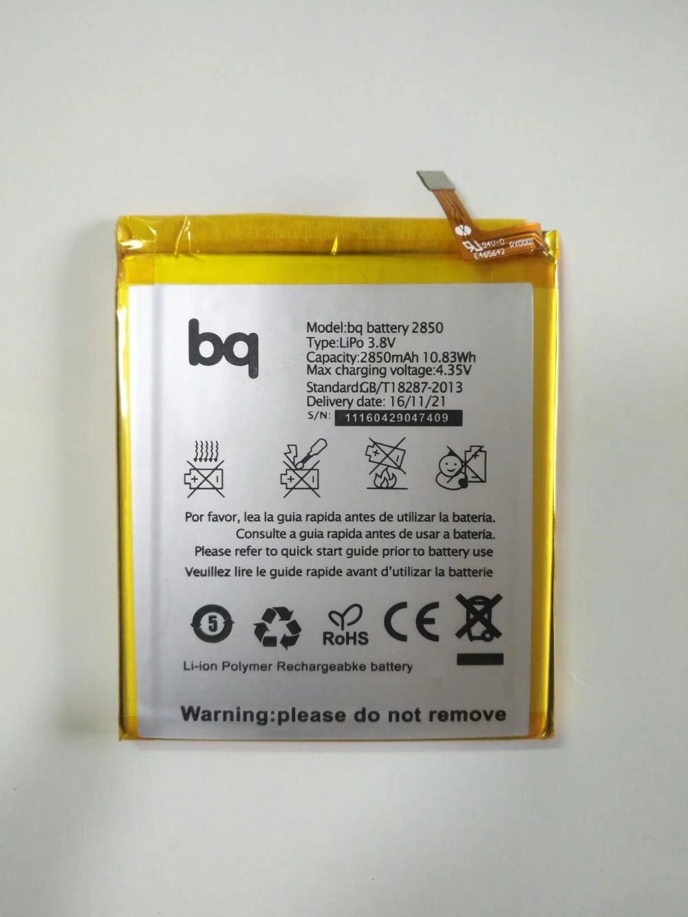 2850 Battery For BQ Aquaris E5 4G LTE E5S 2850mAh Batterie Bateria Accumulator AKKU High Quality with