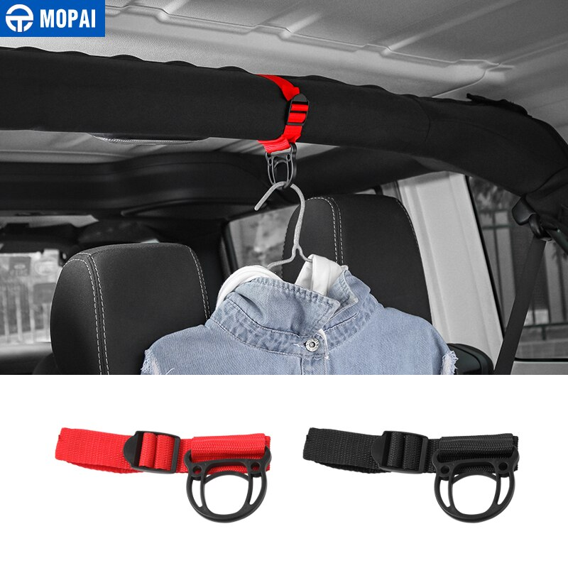MOPAI Car Coat Hanger for Jeep Gladiator JT 2018+ Car Coat Hook stand Accessories for Jeep Wrangler TJ JK JL 1997-2018