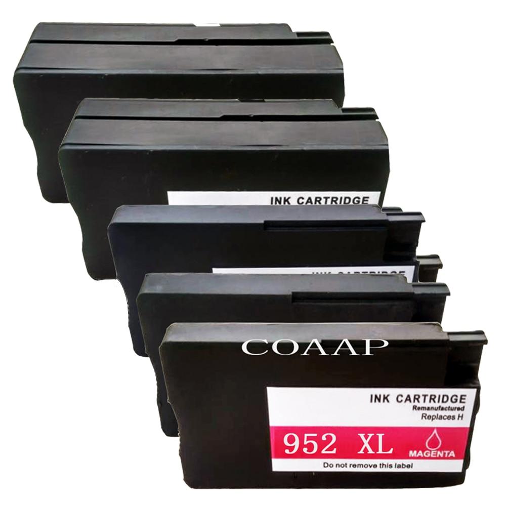 5PK Substituição Do cartucho de tinta para HP 8725 8726 8727 8728 8730 8734 8735 8736 8740 8743 8743 8744 8210 8216 7740 Impressora HP952 XL