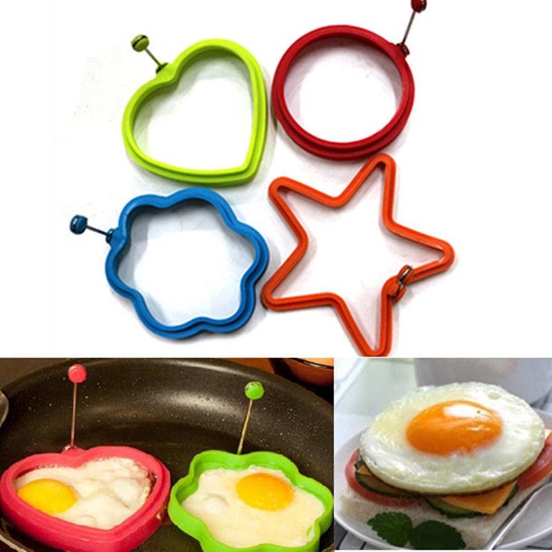 1 шт. силиконовый жареный яичный бок, кольцевой омлет, жареные яйца, круглая форма для яичницы в форме сердца для приготовления пищи, завтрак, инструменты для жарки OK 0283