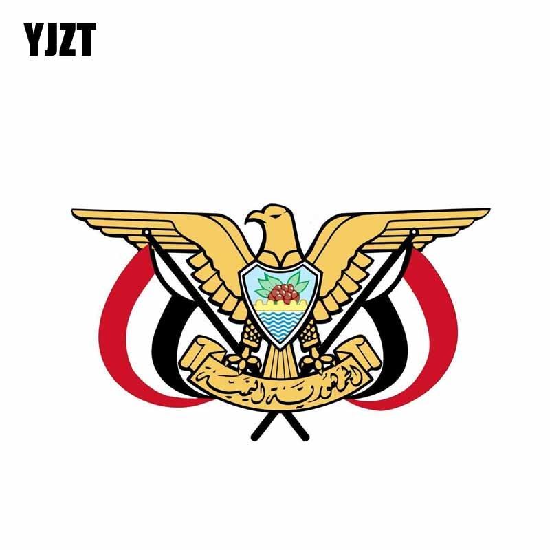 YJZT 15,2 см * 8,7 см Стайлинг автомобиля щит пальто оружия флаг Йемена наклейка автомобиля 6-0598