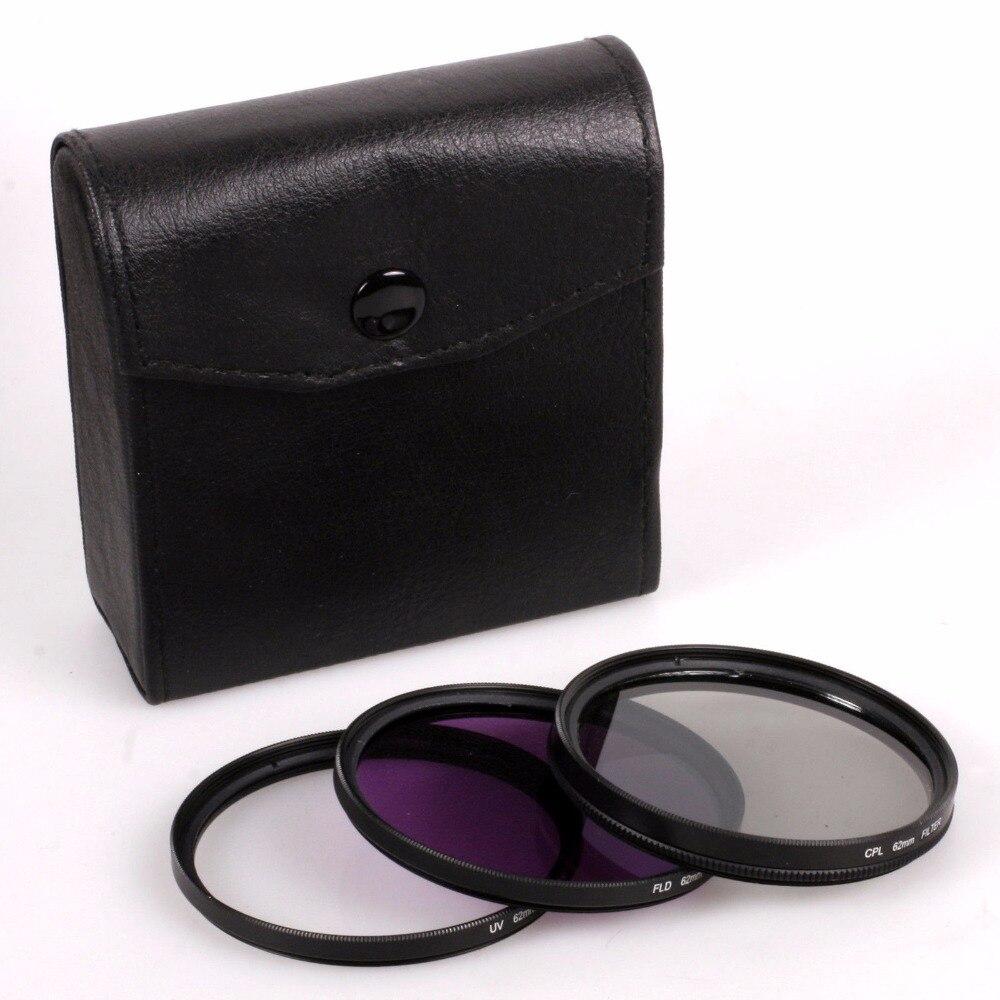 49 мм 52 мм 55 мм 58 мм 62 мм 67 мм 72 мм 77 мм UV + CPL + FLD 3 в 1 Набор фильтров для объектива с сумкой для Cannon для Nikon Sony Pentax