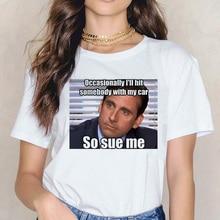 Michael Scott Grunge Harajuku femmes graphique T-shirt esthétique T-shirt chemise le bureau ulzzang drôle mode t-shirts Femme 90s