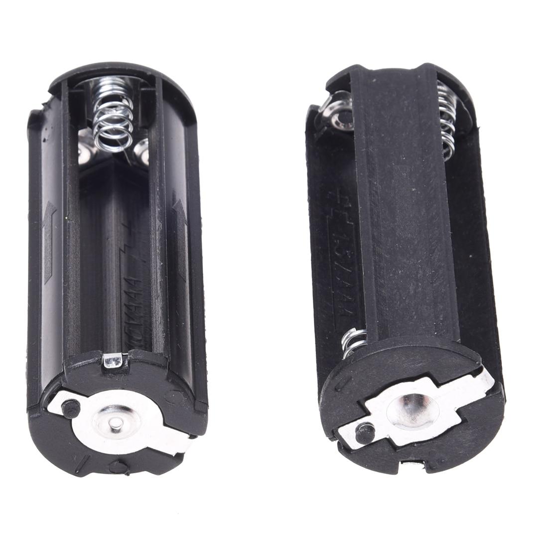 2Pcs Black Battery Holder for 3 x 1.5V AAA Batteries Flashlight Torch