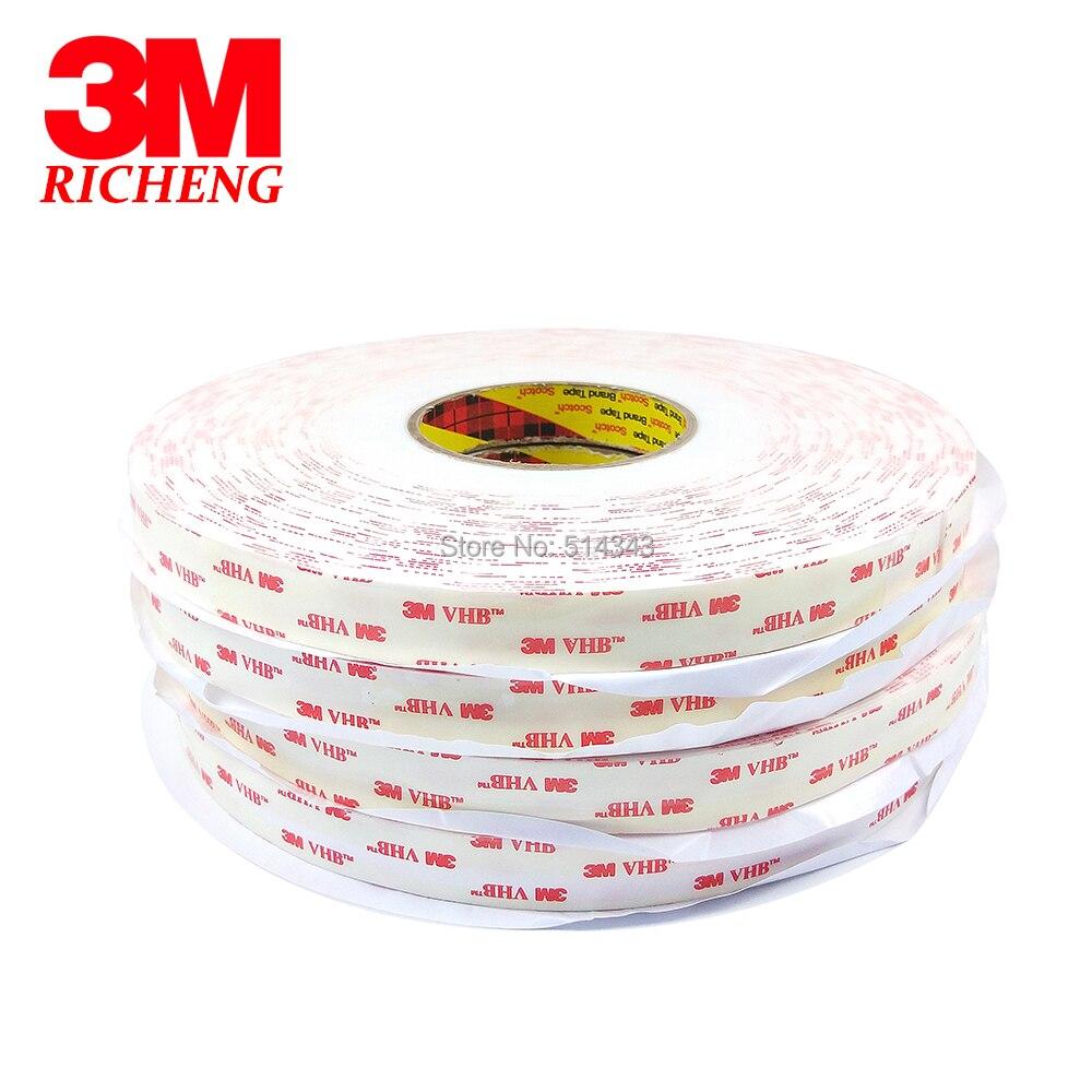 3M 4950 cinta de espuma acrílica VHB de doble cara autoadhesiva lámina transparente holográfica 10MM * 33M 1 rollo/lote