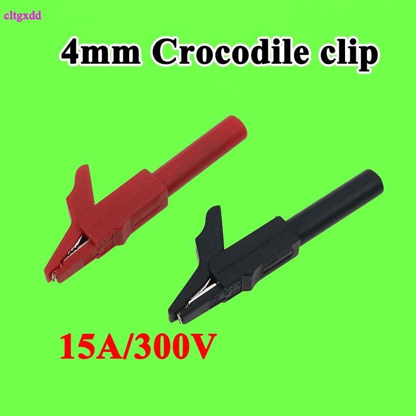 Cltgxdd 4 мм строительный зажим полностью изолированный штепсельный зажим типа «банан» зажимы типа «крокодил» 15 а/300 В для вилки типа «банан»