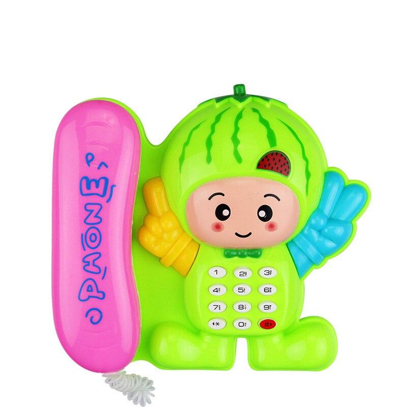 Электронный Детский чехол для телефона с принтом гриба Телефон обучающие музыка и звук игрушечные телефоны для детей случайный Цвет