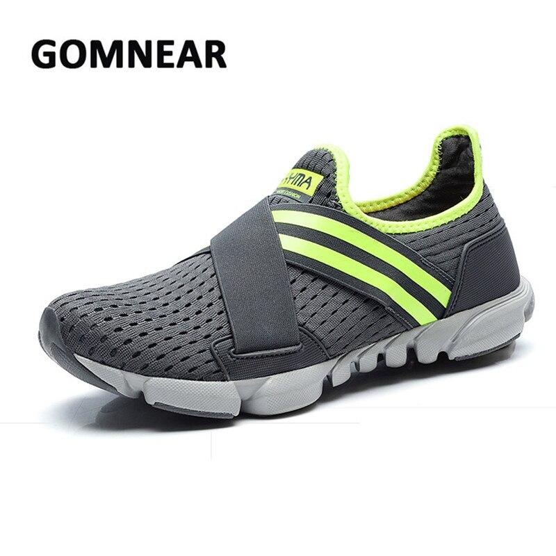 Zapatillas transpirables para correr GOMNEAR para hombre, zapatillas deportivas antideslizantes para correr,...