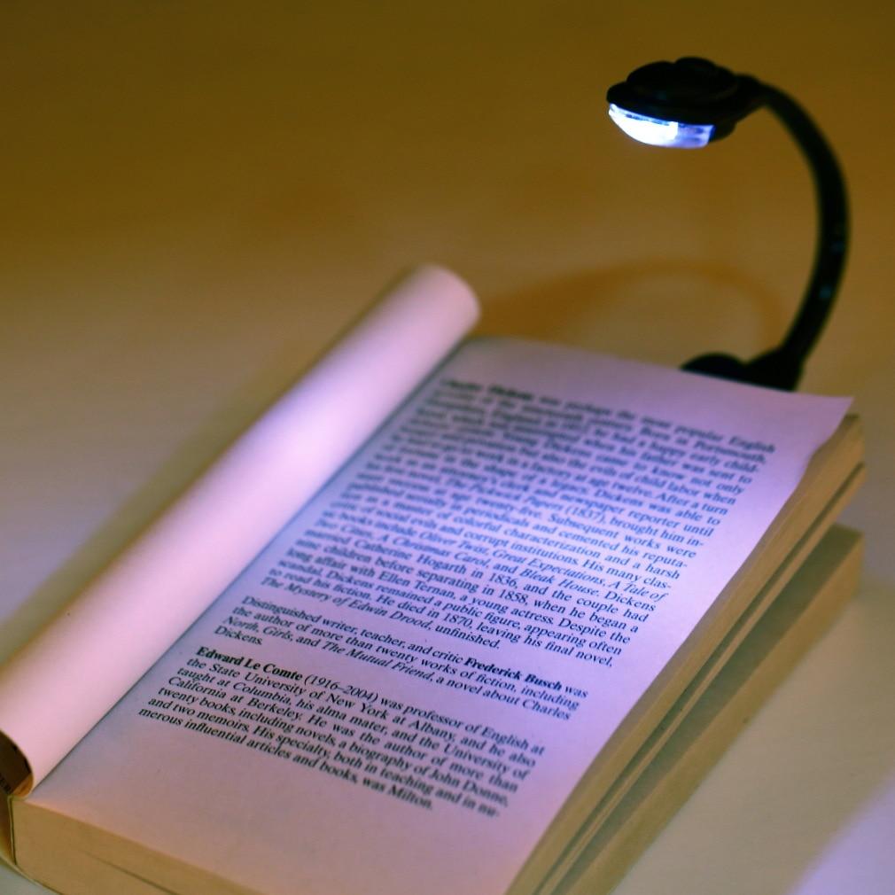Kebedemm Mini Flexible Clip-On Helle Laptop Buch Licht Weiß FÜHRTE Buch Lesen Licht Lampe