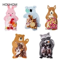 10pcslot cute animal bear cake candy dragee bags cookie bags gift bags greeting cards wedding birthday party cardboard box