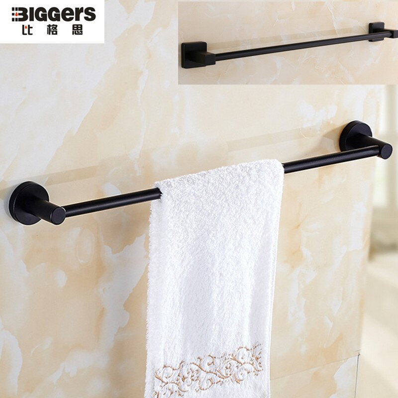Toallero cuadrado redondo de acero inoxidable para baño, barra de toalla individual...