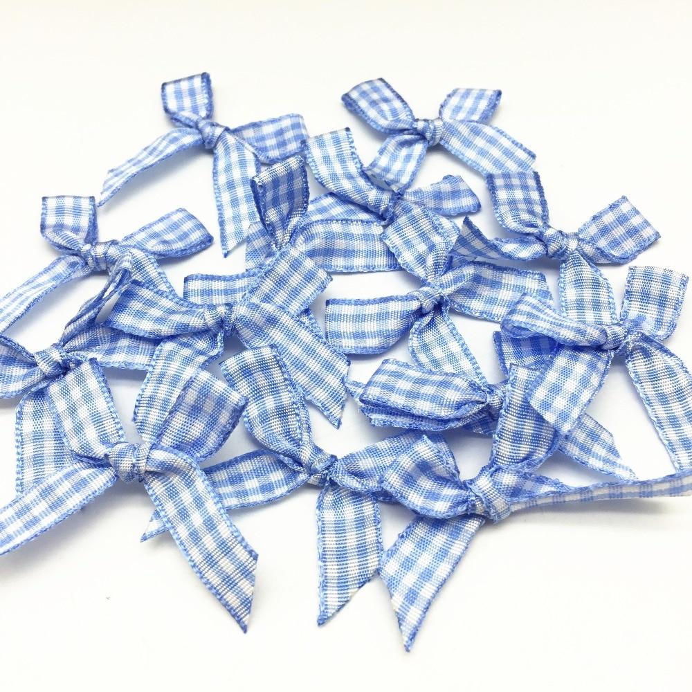 100 Uds. Cinta de guinga azul lazo de cola para boda Invitaciones a hacer tarjetas adornos DIY corbatas artesanías Scrapbooking