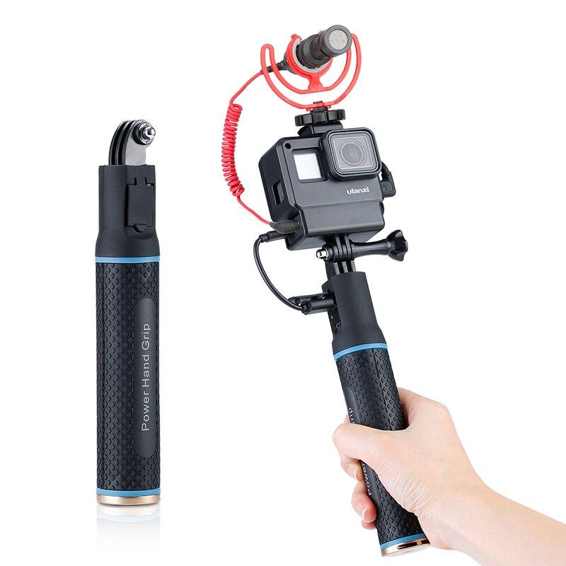 Batería de agarre de mano para Gopro Hero 7 6 5 5200mAh, cargador de batería, Banco de energía, agarre de mano, palo Selfie monopie para cámara de acción
