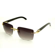 Platz marke designer Sonnenbrille Männer Carter Gläser Frauen Randlose Buffalo Horn Gläser Mens Vintage Sonnenbrille Brillen herren 012