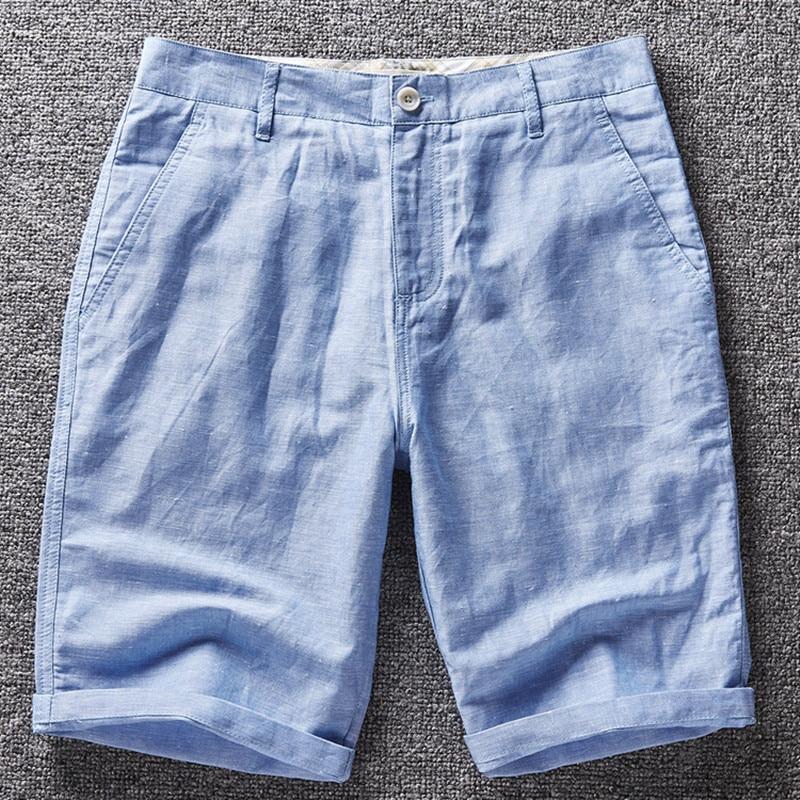 Italy Men shorts linen swimsuit beach shorts men brand boardshorts men linen shorts mannen shorts hombres homens pour hommes