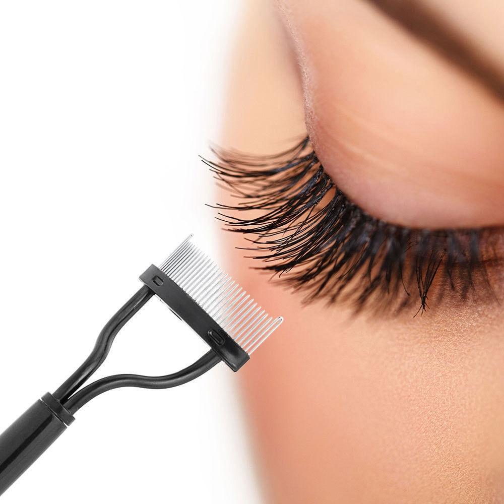 Eyelash Curler Beauty Makeup Lash Separator Foldable Metal Eyelash Brush Comb Mascara Curl Beauty Ma