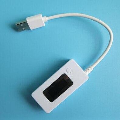 Амперметр с белым хвостом, ЖК-дисплей, Mini USB, измеритель емкости тока, 3 в-7 в