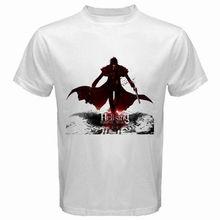 T-Shirt blanc homme col rond coton Hellsing * Alucard Anime Manga Vampire