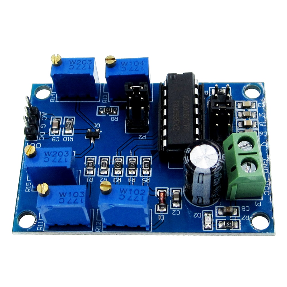 ICL8038 генератор сигналов Средняя/низкая частота 10 Гц-450 кГц треугольная/прямоугольная/Синусоидальная волна генератор модуль 12В до 15В