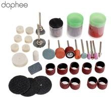 Dophee 75 pièces Mini perceuse Dremel accessoires polissage rotatif meulage coupe découpe Bits pour Dremel outil rotatif outils de bricolage