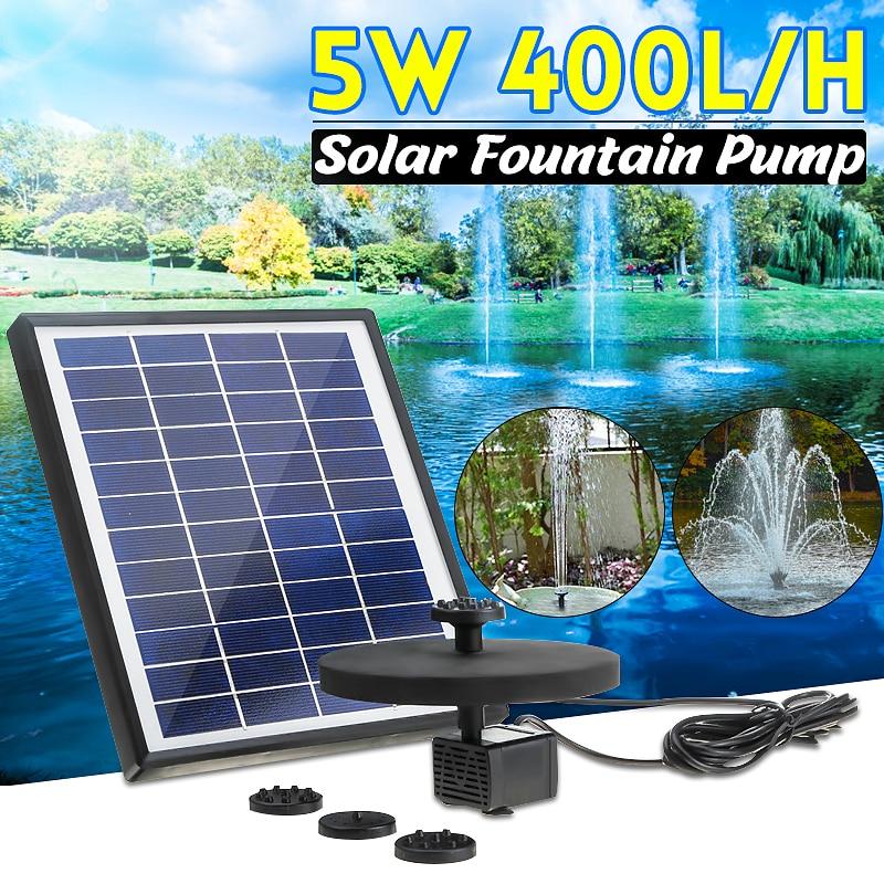نافورة شمسية شمسية ، مسبح وبركة ، ديكور حديقة ، 400 لتر/ساعة ، حداثة