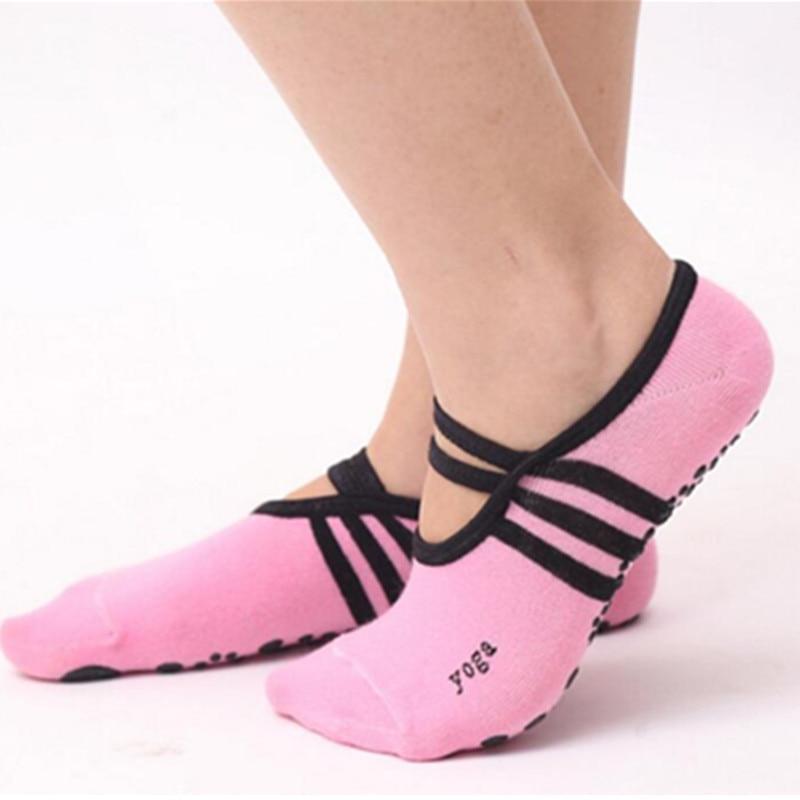 Женские нескользящие повязки, хлопковые спортивные носки для йоги, женские вентиляционные Носки для пилатеса и балета, танцевальные носки, ...