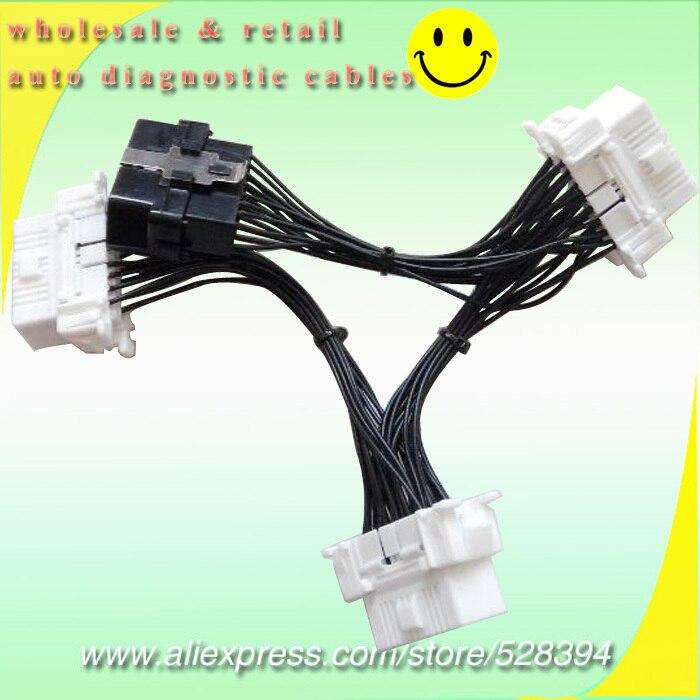 Finetravel OBDII OBD-II OBD2 OBD 2 divisor extensión Y Cable 1 macho...