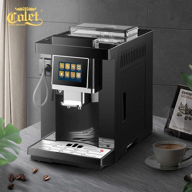 CLT-Q007 tela sensível ao toque inteligente máquina de café barista automático completo italiano espresso um toque capuccino latte espresso