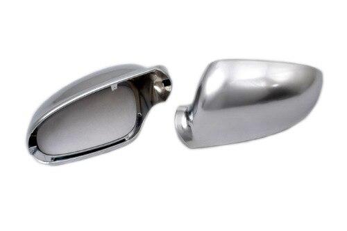 R línea de plata de estilo Matt cubiertas para espejos laterales cromadas de reemplazo para VW Volkswagen Jetta MK5