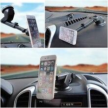 Support Mobile rotatif universel pour téléphone   360 degrés support de voiture, support magnétique pour Gps Smartphone téléphone Stant télescopique