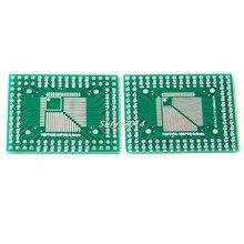 2 pièces QFP/TQFP/FQFP/LQFP 32/44/64/80/100 pour convertisseur de carte PCB adaptateur DIP