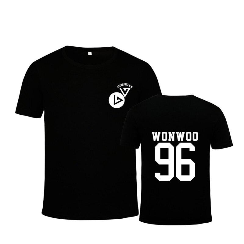 Kpop moda coreana 17 VERNON 3th Mini álbum GOING SEVENTEEN BOOMBOOM algodón camiseta K-POP camisetas PT476