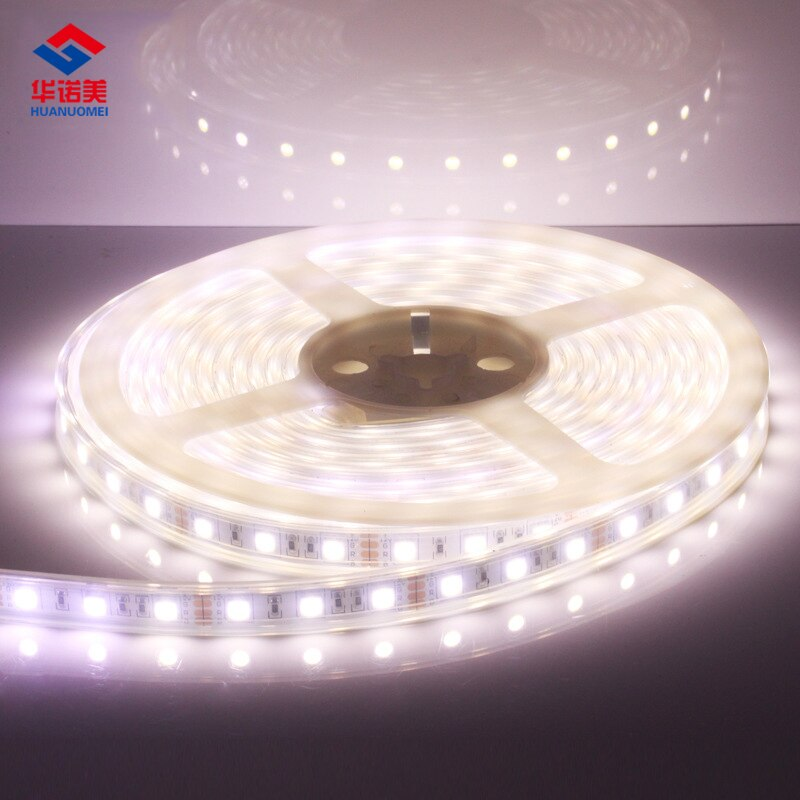 IP68 impermeable LED tira SMD 5050 luz Flexible de la cinta 60 LEDs/m 5 m/Roll DC12V RGB rojo verde azul amarillo RGB