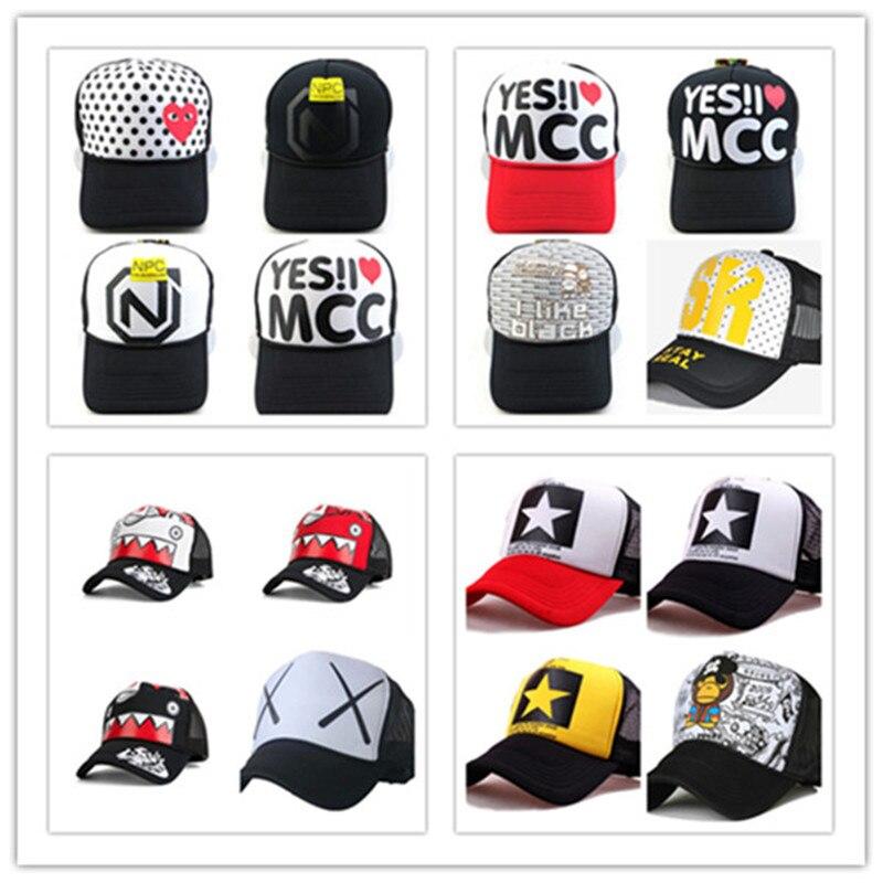 Новая мужская и женская модная шляпа с сеткой Кепка Snapback бейсболки, регулируемые по размеру бейсболки