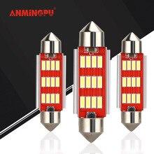 ANMINGPU 2x5W lampe de Signal C5W Led ampoule 12V 18V Festoon C5W C10W LED 31mm 36mm 39mm 41mm voiture intérieur dôme lumière liseuse