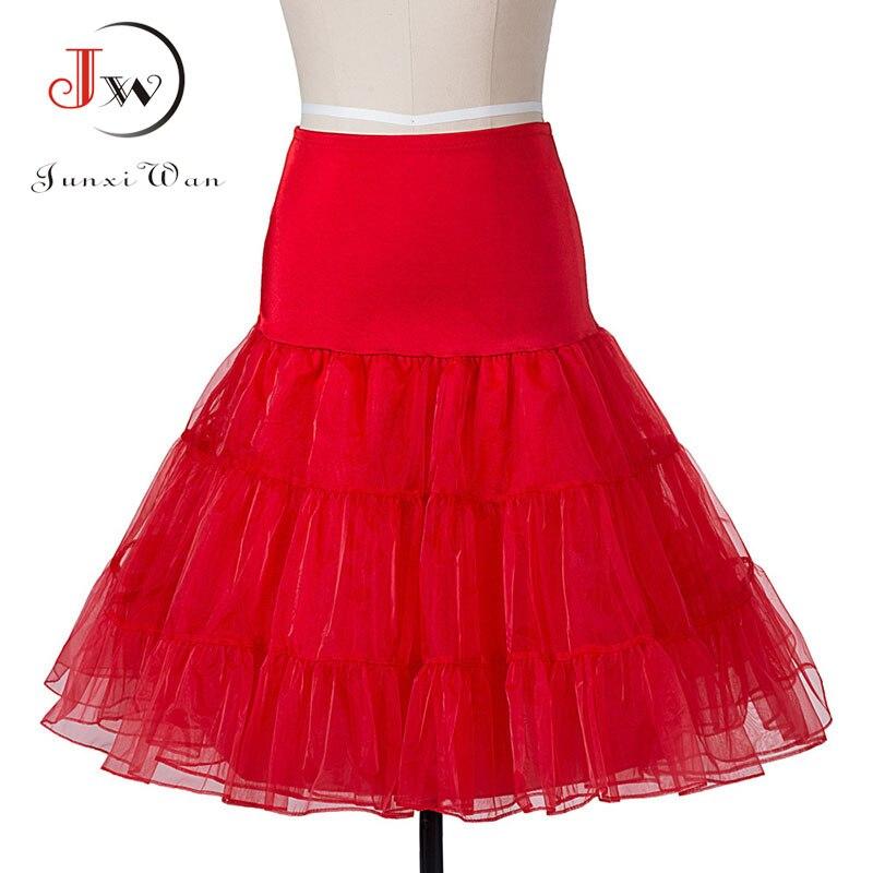 Faldas Vintage 50s 60s mujeres vestido de bola Tutu falda Swing enagua de Rockabilly Underskirt Crinoline Fluffy Pettiskirt para la boda