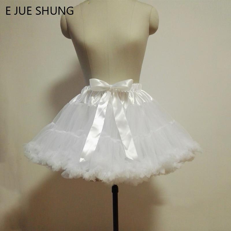 E JUE SHUNG vestido de bola Underskirt Swing Vestido corto enagua Lolita enagua falda tutú de ballet Rockabilly Crinoline