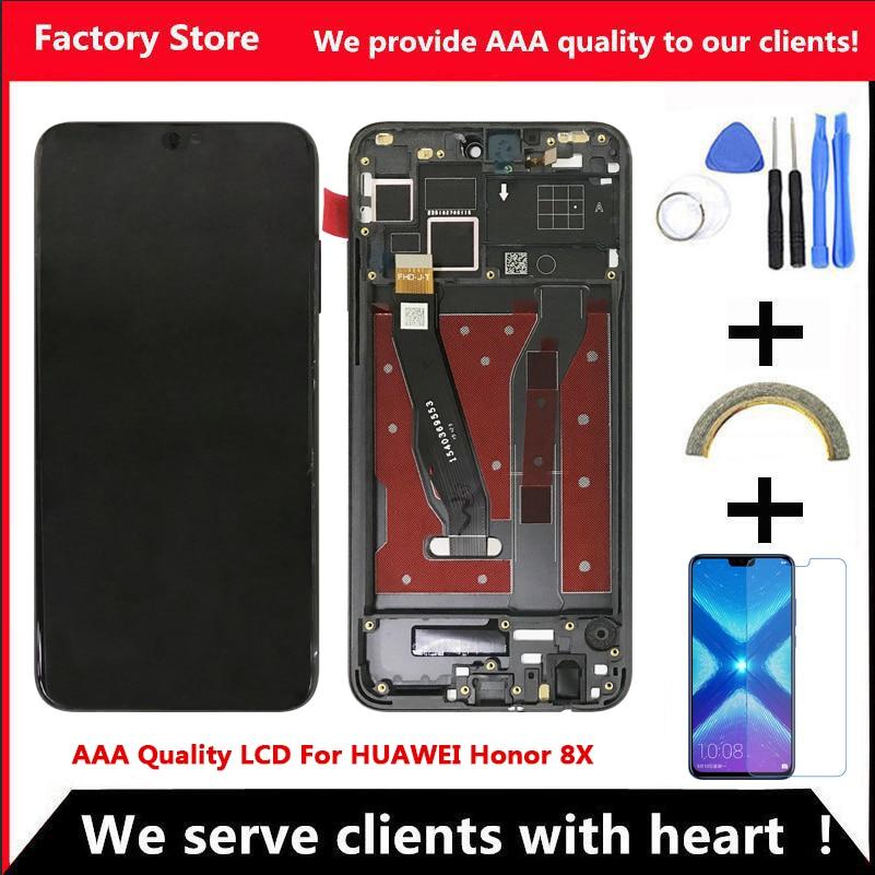 AAA جودة LCD لهواوي الشرف 8X Lcd مع إطار عرض الشاشة ل الشرف 8X الشاشة مع الإطار LCD عرض JSN-L21 JSN-L42