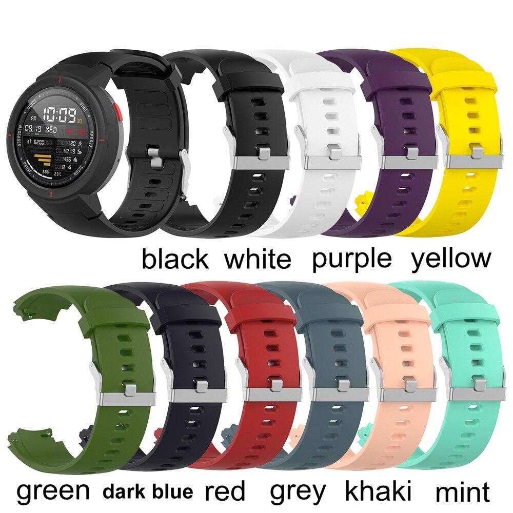 Correa de reloj de silicona suave correa de reloj de moda bandas de repuesto correa de deporte correas de pulsera para Huami Amazfit Verge 3
