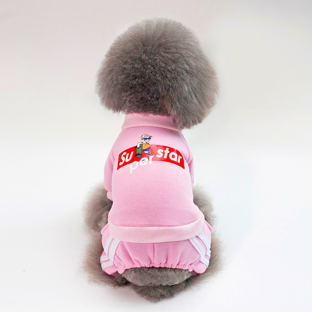 Купить с кэшбэком Warm Dog Clothes For Soft Dog Clothes for dog Puppy Outfit Pet Coat Clothes For Small Dog Yorkie Chihuahua Hoodie