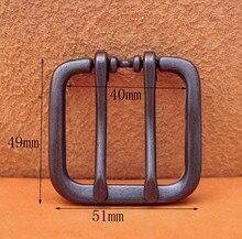 51*49 MM (intérieur 40 MM) large Double langue broche rouleau broche ceinture noire boucle sadapte aux sangles de ceinture