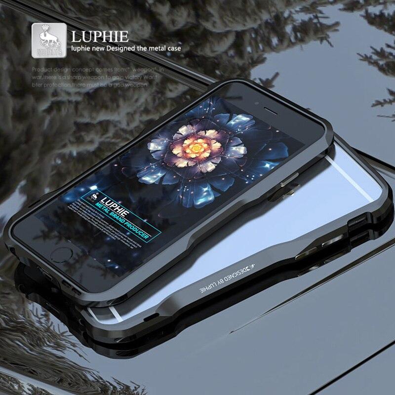 Оригинальный металлический чехол для iPhone 6, роскошный брендовый 3D Жесткий алюминиевый каркас, ударопрочный чехол для телефона iPhone 6 S Plus, бам...