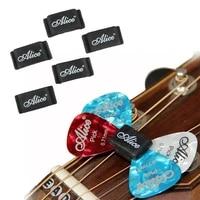 10pcs alice black rubber guitar pick holder palhetas plectrums fix on headstock for acoustic guitar bass ukulele accessories