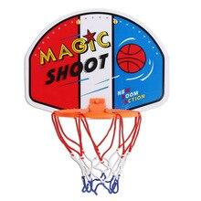 27*21 cm enfants basket-ball sport formation cerceau en plastique magique tirer intérieur Mini cerceau en plastique ensemble suspendu basket-ball Backboard