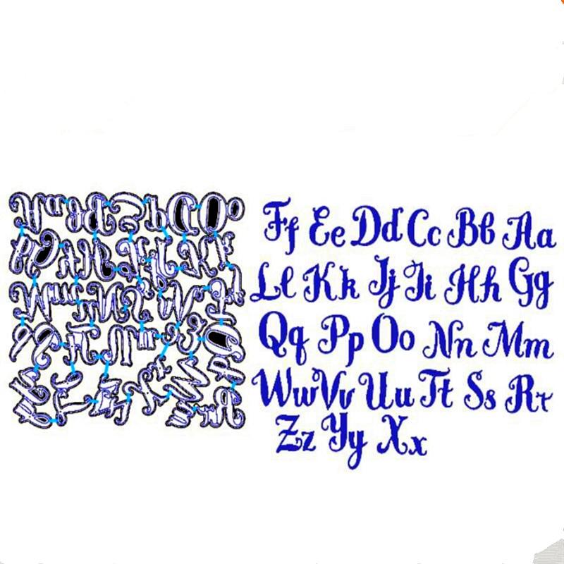 YLCD1170 Алфавит металлический трафарет для трафареты для скрапбукинга DIY открытки в альбом украшения тиснение папку Craft умереть порезы Новый