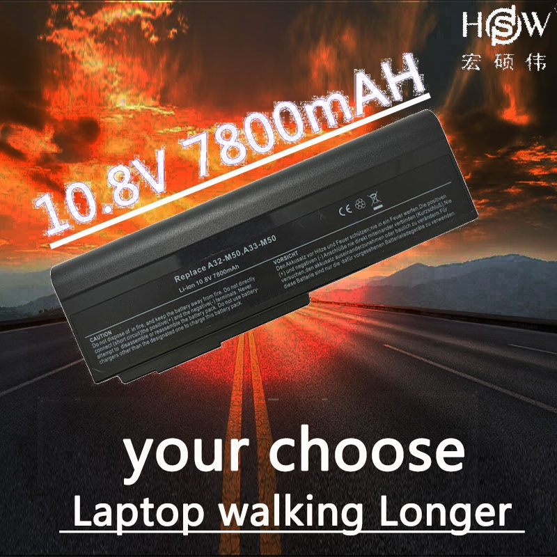 HSW Аккумулятор для ноутбука ASUS N53 A32 M50 M50s N53S N53SV A32-M50 аккумулятор L062066 L072051 L0790C6 15G10N373800