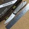 TWO SUN – couteau pliant tactique TS07 lame D2 en titane pour la chasse le camping la survie en plein air EDC